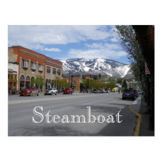 Steamboat Springs Colorado Postcard
