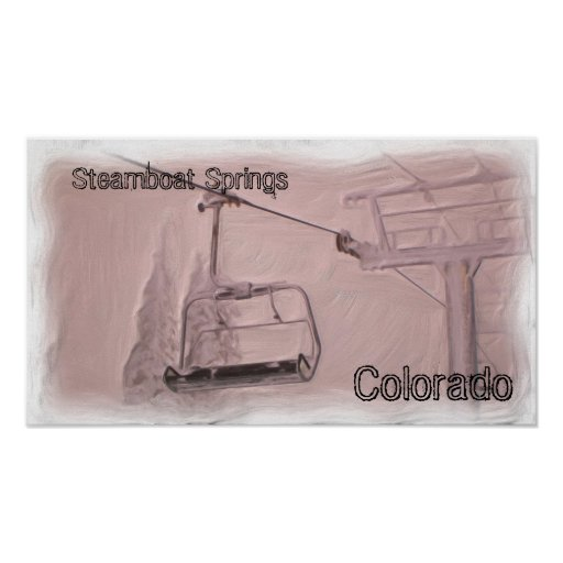 Steamboat springs colorado poster zazzle for T shirt printing in colorado springs