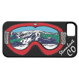 Steamboat Springs Colorado red black goggle case