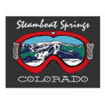 Steamboat Springs Colorado red goggle postcard
