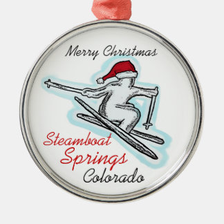 Steamboat Springs Colorado santa skier ornament