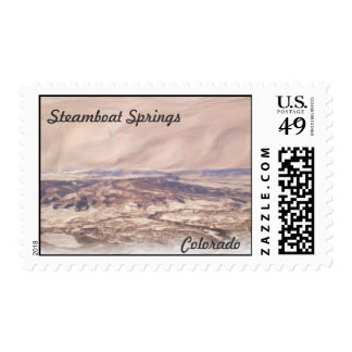 Steamboat Springs Colorado scenic stamp