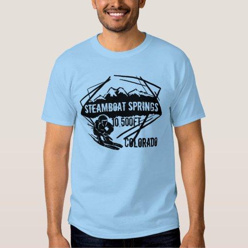 Colorado Elevation: Steamboat Springs Colorado Ski Elevation Tee