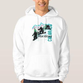 Steamboat Springs Colorado snowboard hoodie