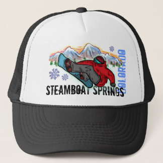 Steamboat Springs Colorado snowboarder shred hat