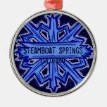 Steamboat Springs Colorado snowflake ornament