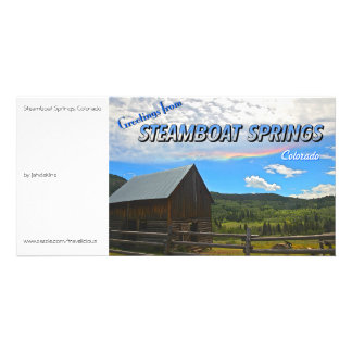Steamboat Springs, Colorado - Vintage Style Photo Card