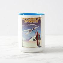 Steamboat Springs colorado vintage travel poster