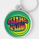 Steamboat Springs Hippy Trippy Keychain