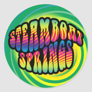Steamboat Springs Hippy Trippy Sticker