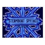 Steamboat Springs winter snowflake postcard