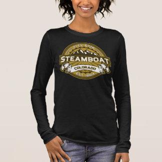 Steamboat Tan Dark Long Sleeve T-Shirt