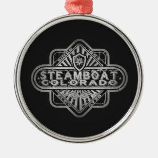 Steamboat Vintage Diamond Metal Ornament
