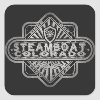 Steamboat Vintage Diamond Square Sticker
