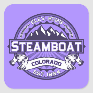 Steamboat Violet Square Sticker
