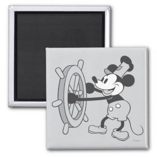 Steamboat Willie Mickey Mouse 2 Inch Square Magnet