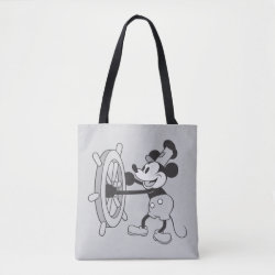All-Over-Print Tote Bag, Medium with Steamboat Willie Mickey Mouse design