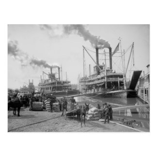 Steamboats at Vicksburg, 1910 Postcard