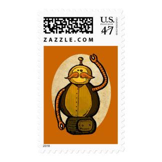 Steambot Antique Robot Stamp