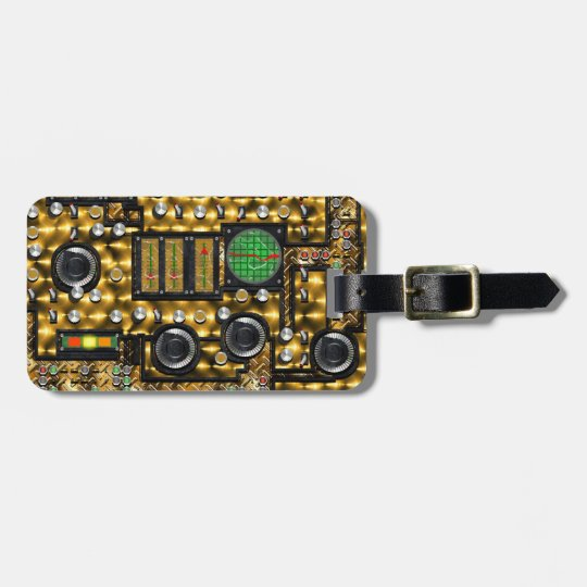 SteamControl - Brass Luggage Tag