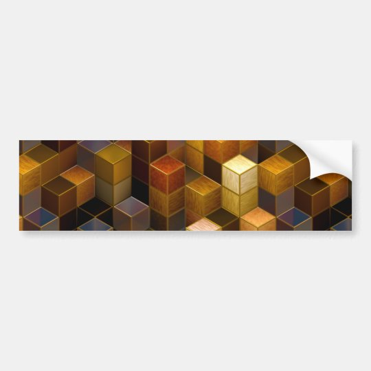 SteamCubism - Brass - Bumper Sticker