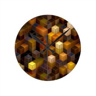 SteamCubism - latón - Reloj De Pared