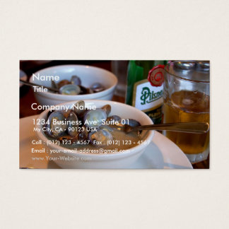 Steamed Baby Clams Business Card