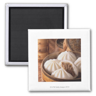Steamed Bun 2 Inch Square Magnet