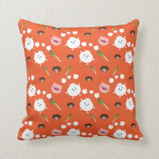 steamed bun with stuffing patterns throw pillow