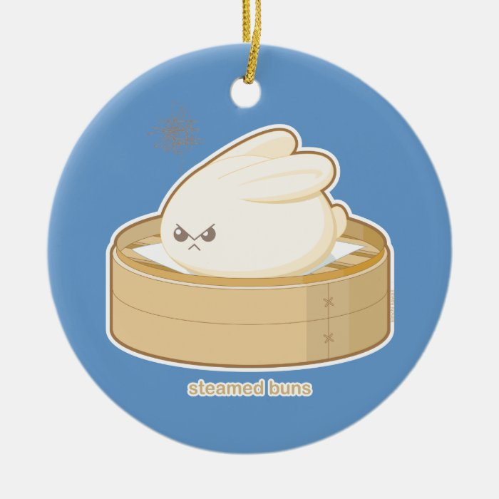 Steamed Buns Ceramic Ornament