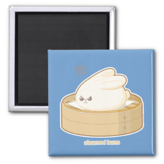 Steamed Buns 2 Inch Square Magnet