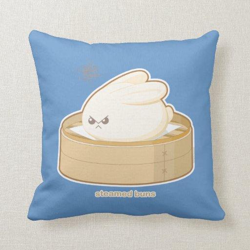 Steamed Buns Throw Pillow