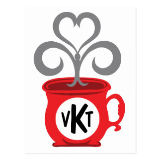 Steamed Coffee Cup Initial Postcard