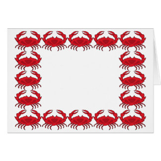 Steamed Crabs Card