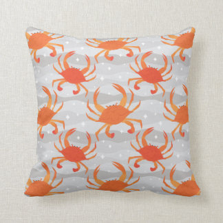 Steamed Crabs Throw Pillow