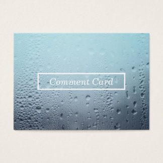 steamed glass comment card