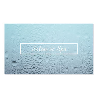 steamed glass spa appointment reminder business card