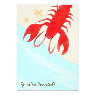 Steamed Lobsters Party Invitation