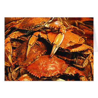 Steamed Maryland Hard Crabs Greeting Card