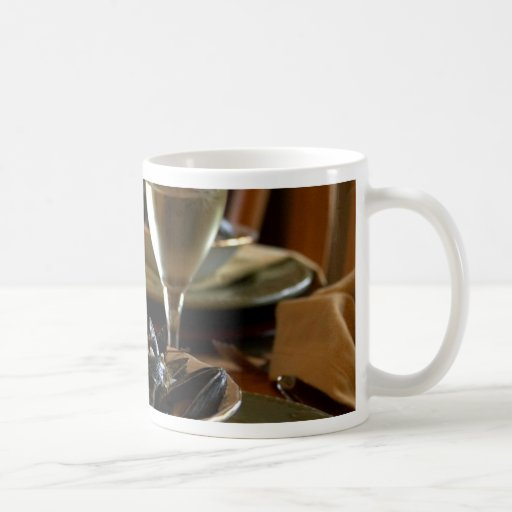 Steamed Muscles At The Dinner Table Classic White Coffee Mug