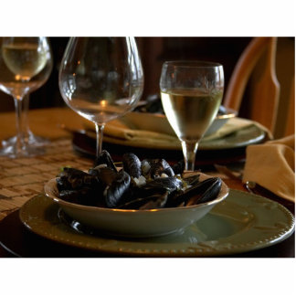 Steamed Muscles At The Dinner Table Standing Photo Sculpture