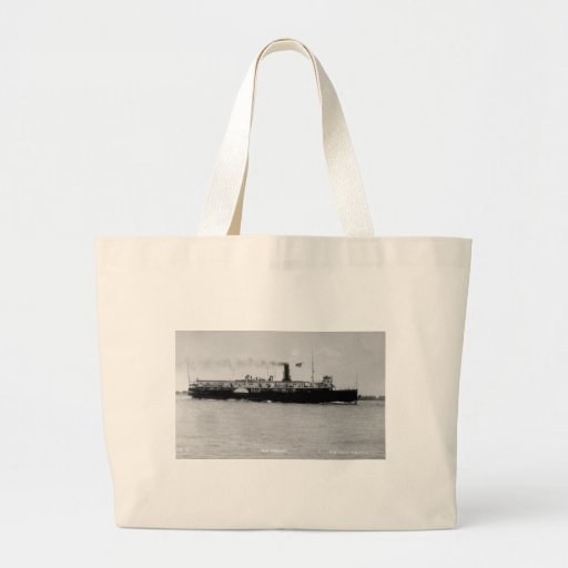 Steamer Alpena on St. Clair River by Louis Pesha Tote Bags