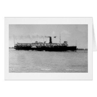 Steamer Alpena on St. Clair River by Louis Pesha Card