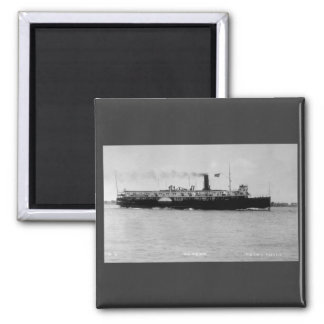 Steamer Alpena on St. Clair River by Louis Pesha 2 Inch Square Magnet