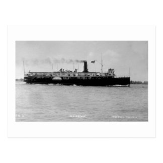 Steamer Alpena on St. Clair River by Louis Pesha Postcard