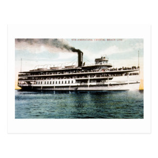 Steamer Americana, Crystal Beach Line Postcard