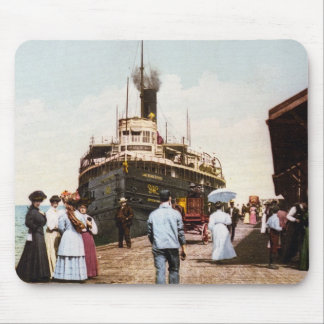 Steamer at Dock in Cheboygan, Michigan Mouse Pad