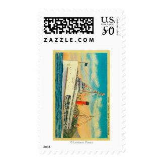 """Steamer """"Catalina"""" at Santa Catalina Island Postage"""