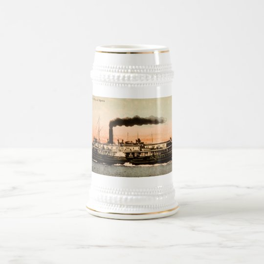 Steamer City of Alpena Beer Stein