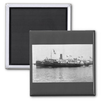 Steamer City of Buffalo - Louis Pesha Photo 2 Inch Square Magnet
